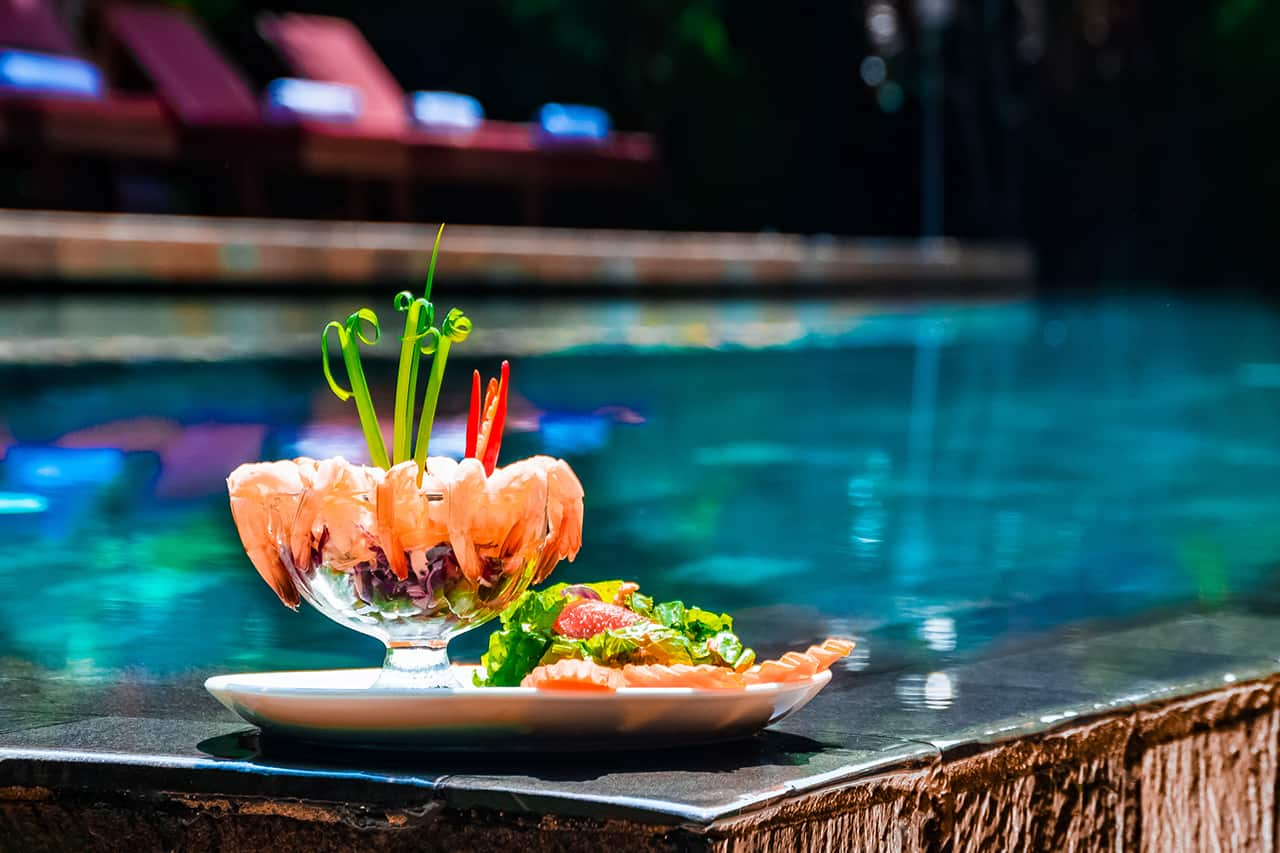 Food by the Pool